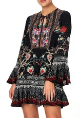 CAMILLA HAUTE PROVINCIAL FRILL HEM LONG SLEEVE DRESS