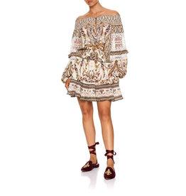 CAMILLA OLYMPE ODE OFF SHOULDER SHORT DRESS