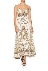 CAMILLA OLYMPE ODE LONG DRESS W/TIE FRONT