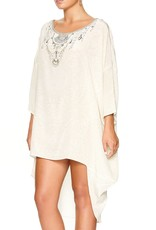 CAMILLA DENTELLE BLANCHE SCOOP BACK HEM DRESS