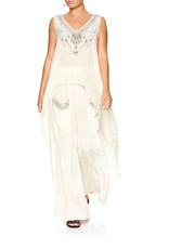 CAMILLA DENTELLE BLANCHE HIGH LOW CROSS OVERLAY TOP