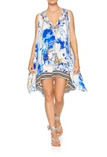SALE - CAMILLA SAINT GERMAINE SHEER LAYERED DRESS W/SPLIT