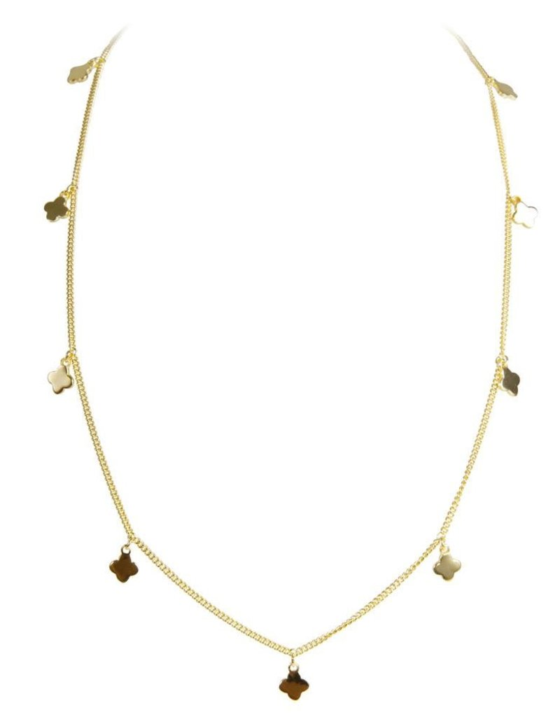 FAIRLEY ALEXA MOROCCAN CHARM NECKLACE GOLD