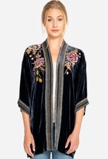 JOHNNY WAS QUITO VELVET KIMONO DENIM