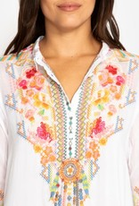 JOHNNY WAS FESTIVAL TUNIC WHITE