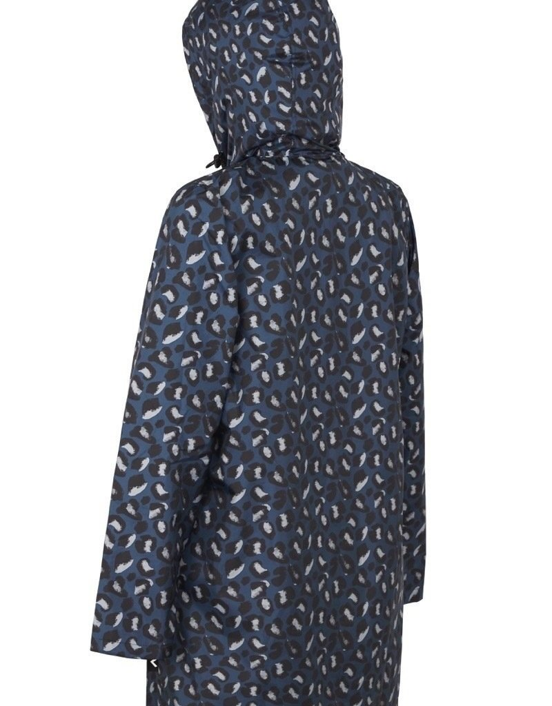 PAQME 3/4 JACKET ANYDAY RAINCOAT GEO BLUE