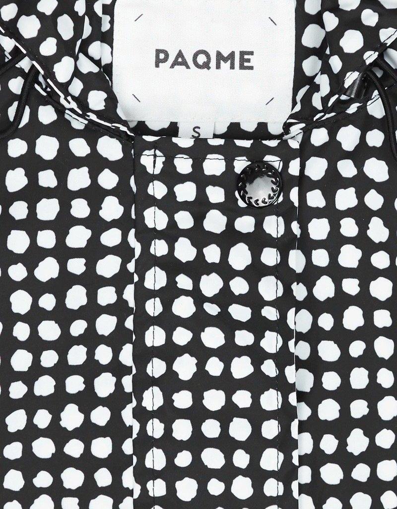 PAQME 3/4 JACKET ANYDAY RAINCOAT BLACK DALMATION