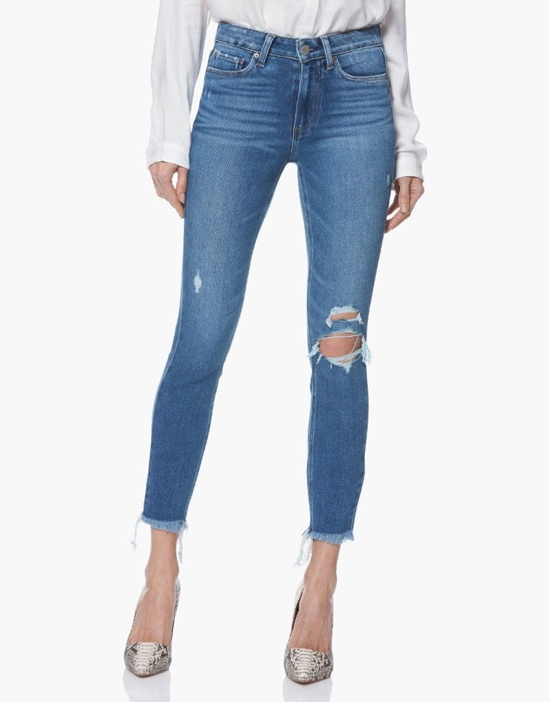 PAIGE HOXTON ANKLE HIGH RISE SKINNY ALESSIO DESTRUCTED