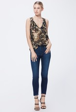 PAIGE HOXTON CROP HIBISCUS DISTRESSED