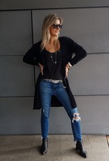 FLUFFY CARDIGAN WITH POCKETS BLACK