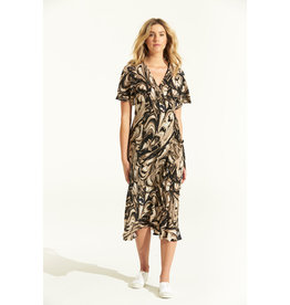 ONESEASON PIPER FRILL WRAP DRESS PORTO