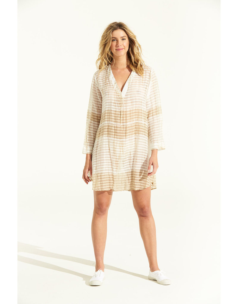 ONESEASON JESS MIDDY DRESS SELF STRIPE