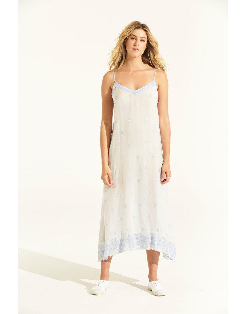 ONESEASON ANTOINETTE SLIP DRESS BABY BLUE