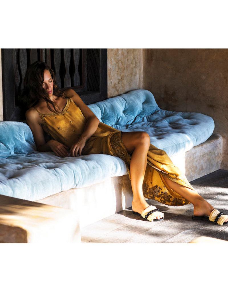 ONESEASON ANTOINETTE SLIP DRESS GOLD
