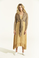 ONESEASON DAISY WRAP CARDIGAN GOLD
