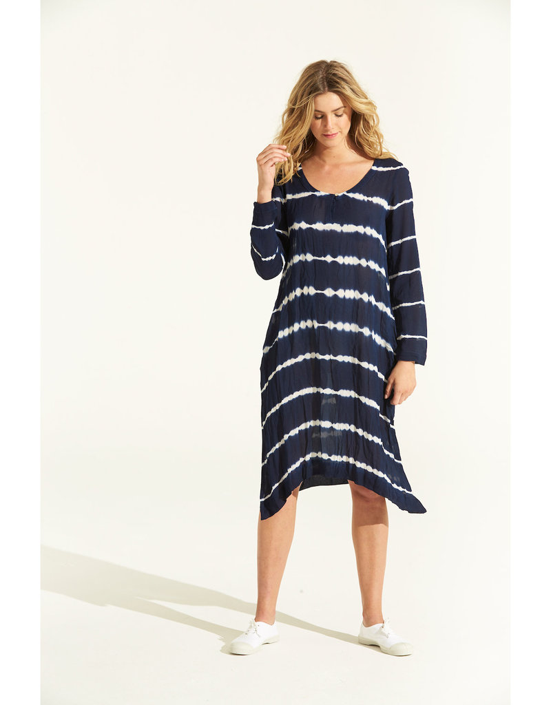 ONESEASON NEGIN MIDDY STRIPE TIE DYE NAVY