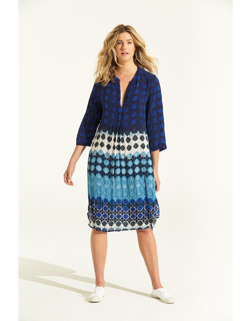 ONESEASON PAPY DRESS BERMUDA BLUE
