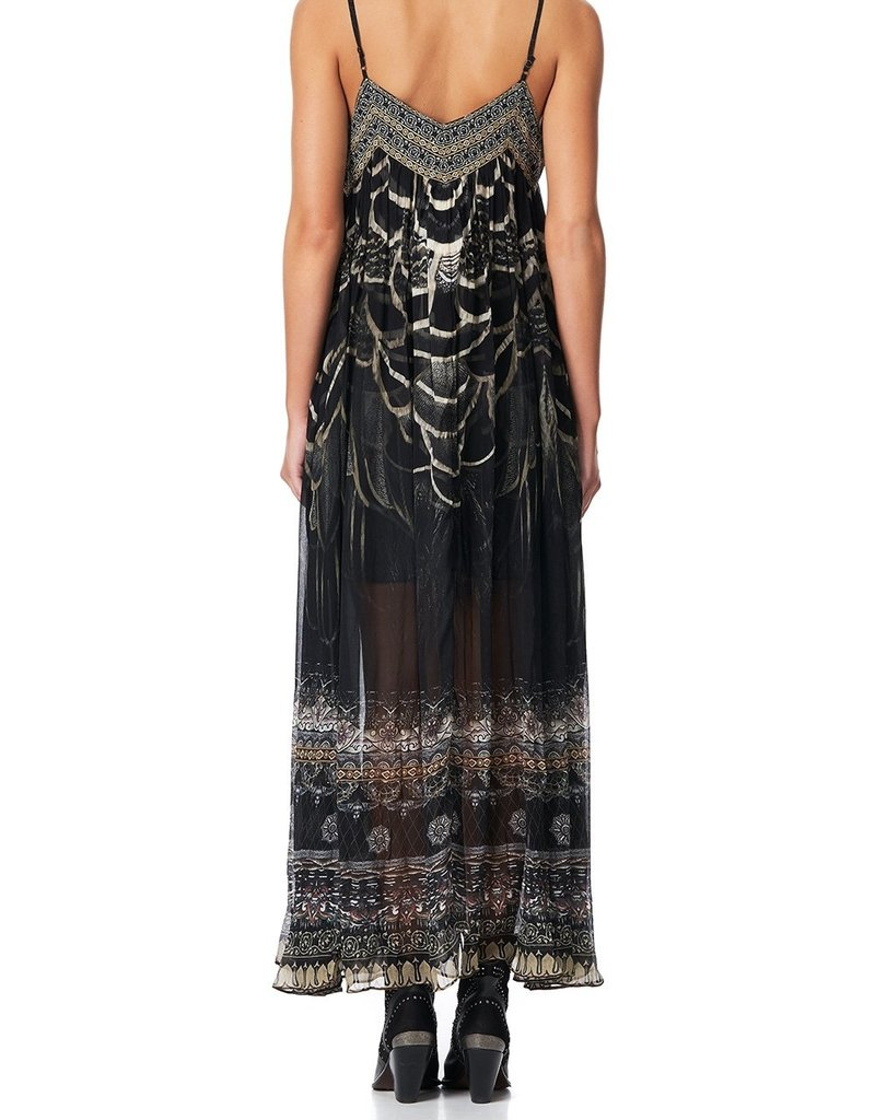 CAMILLA UNDER A FULL MOON LACE UP FRONT DRESS