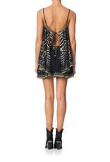 CAMILLA UNDER A FULL MOON FLARED PLAYSUIT WITH OVERLAYER