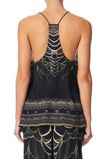 CAMILLA UNDER A FULL MOON T BACK SHOESTRING TOP