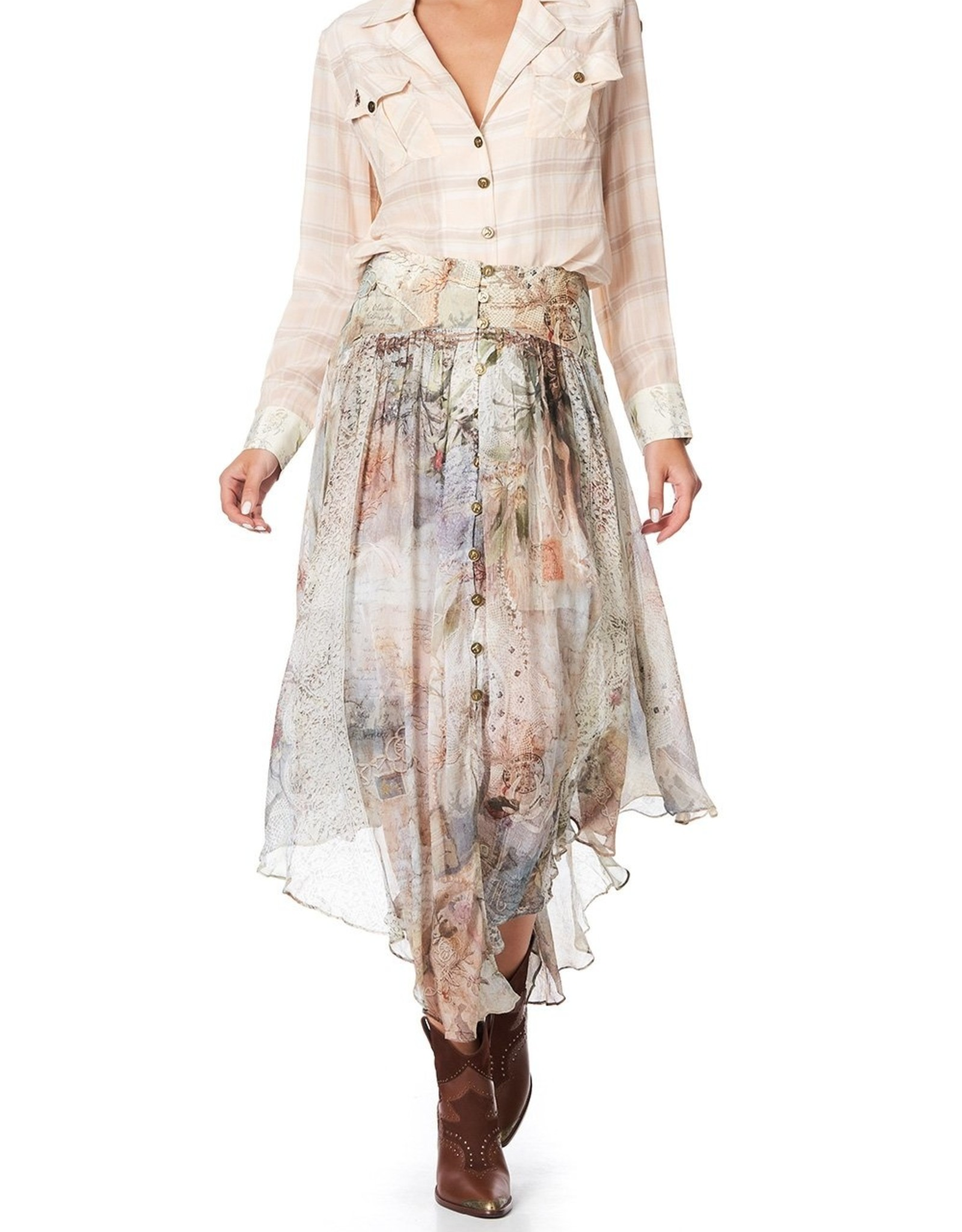 CAMILLA LETTERS FROM HILDA SHAPED WAIST SKIRT