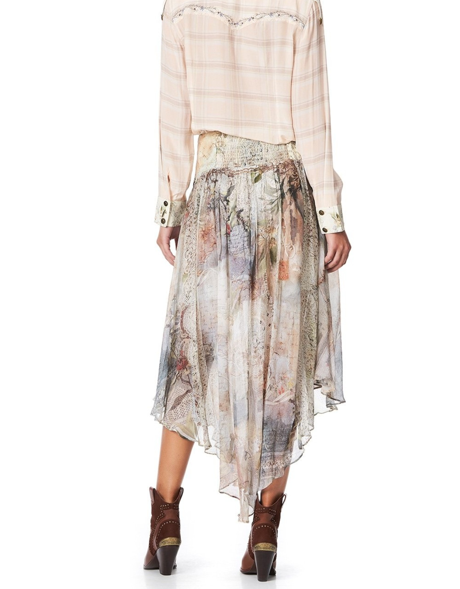 SALE - CAMILLA LETTERS FROM HILDA SHAPED WAIST SKIRT