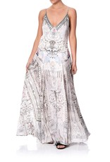 SALE - CAMILLA CRYSTAL CASTLE LONG SLIP DRESS WITH GODETS