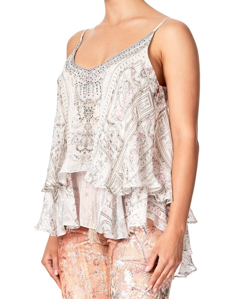 SALE - CAMILLA CRYSTAL CASTLE DOUBLE LAYERED CAMI