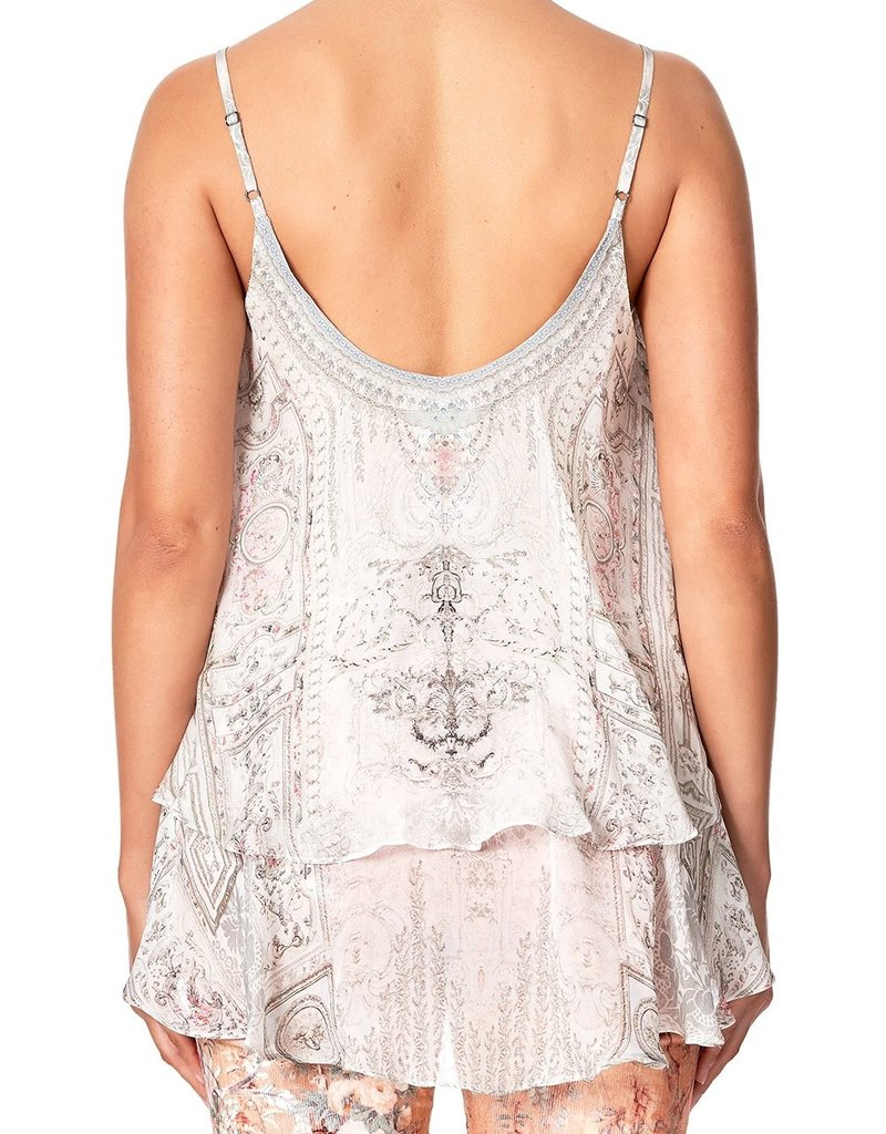 CAMILLA CRYSTAL CASTLE DOUBLE LAYERED CAMI