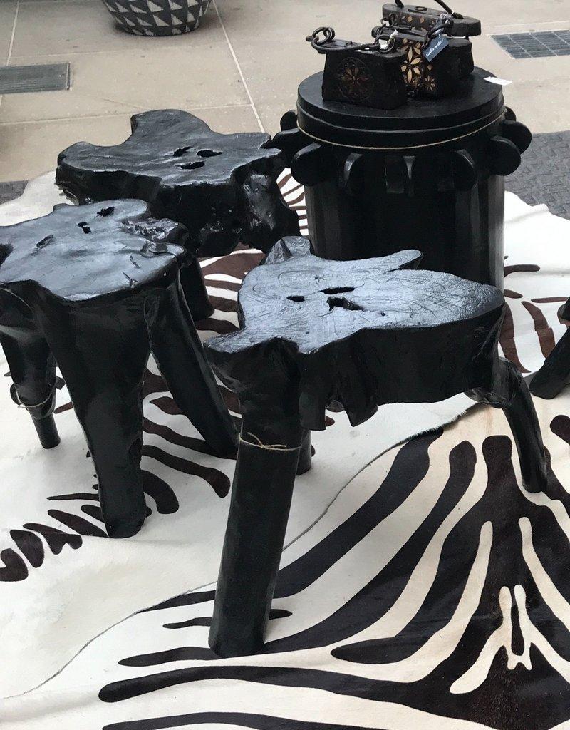 BLACK ELIF TREE ROOT STOOL