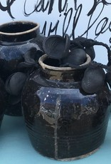 BLACK CERAMIC JAR
