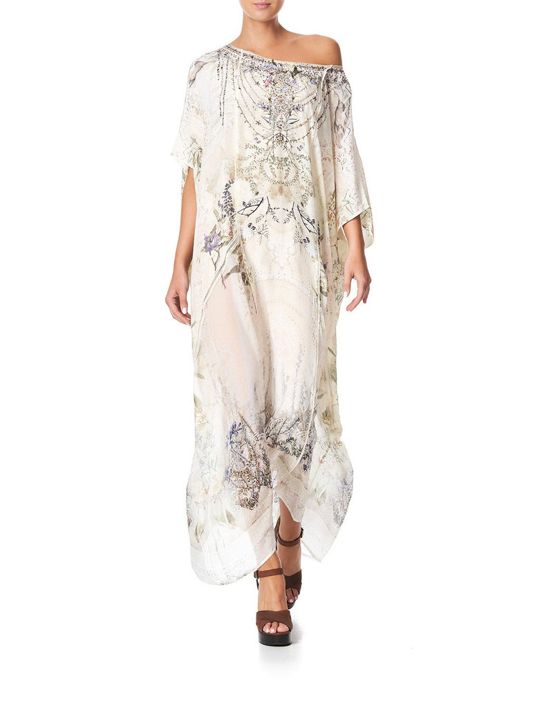 CAMILLA MEMORIES OF MOREE PANELLED ROUND NECK KAFTAN