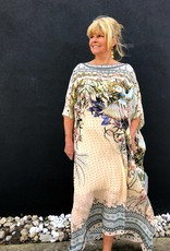 CAMILLA KINDRED SKIES ROUND NECK KAFTAN