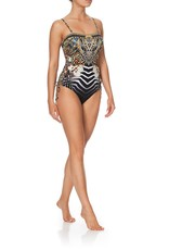 CAMILLA LOST PARADISE LACE UP BANDEAU ONE PIECE