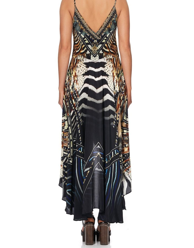 CAMILLA LOST PARADISE TIE DETAIL HIGH LOW DRESS