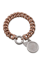 VON TRESKOW SMALL MAMA BRACELET WITH SHILLING