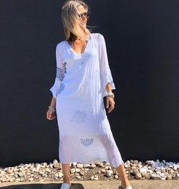 ONESEASON BELLE DRESS RAJ PAISLEY WHITE