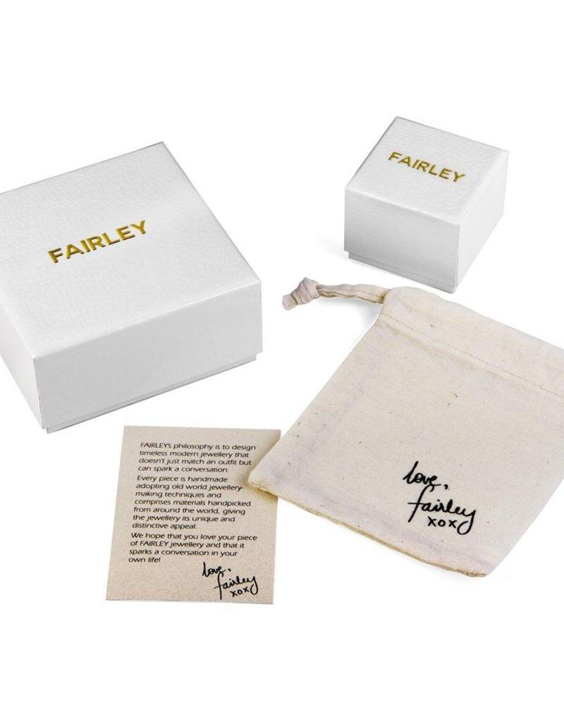 FAIRLEY BAROQUE PEARL NEPTUNE HOOP EARRINGS