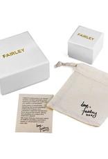 FAIRLEY PEARL PUFF BLUE SAPPHIRE RING