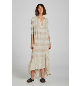 ESTILO EMPORIO MAXI TIER DRESS YIN STRIPE