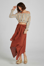ESTILO EMPORIO KINDRED SKIRT BRASILE TERACOTTA