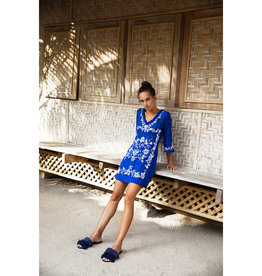 ONESEASON TAJ  EMBROIDERIES COBALT/WHITE