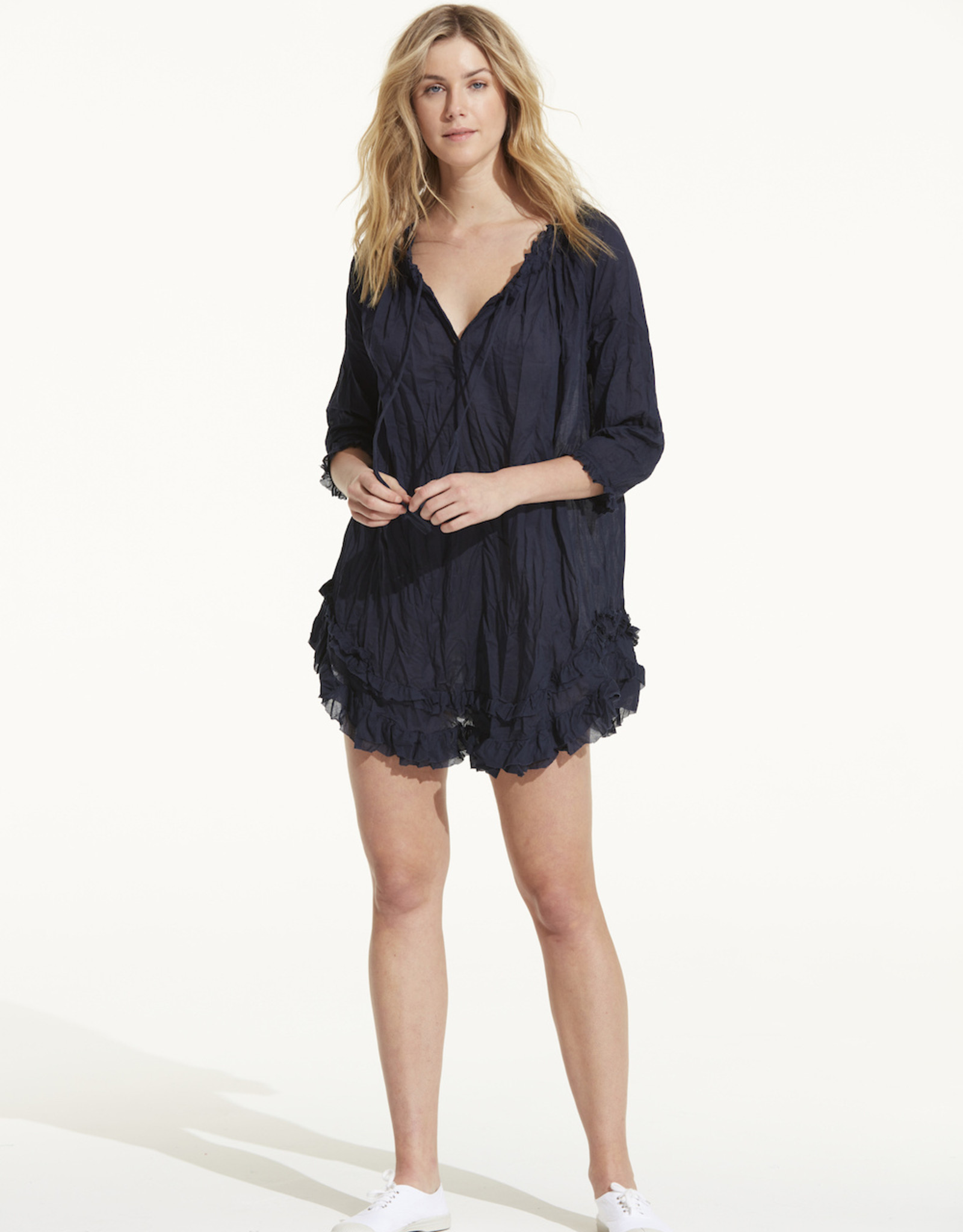 SALE - ONESEASON FRILLY EMBROIDERIES NAVY