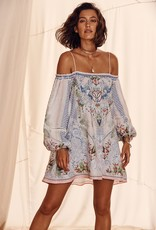 CAMILLA BEACH SHACK OFF SHOULDER DRESS WITH STRAPS