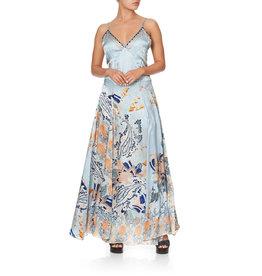 SALE - CAMILLA FRASER FANTASIA LONG SLIP DRESS WITH GODETS