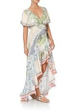 CAMILLA BEACH SHACK FRILL SLEEVE LONG DRESS
