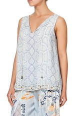 CAMILLA BUSH DIAMOND FRONT SPLIT TUNIC