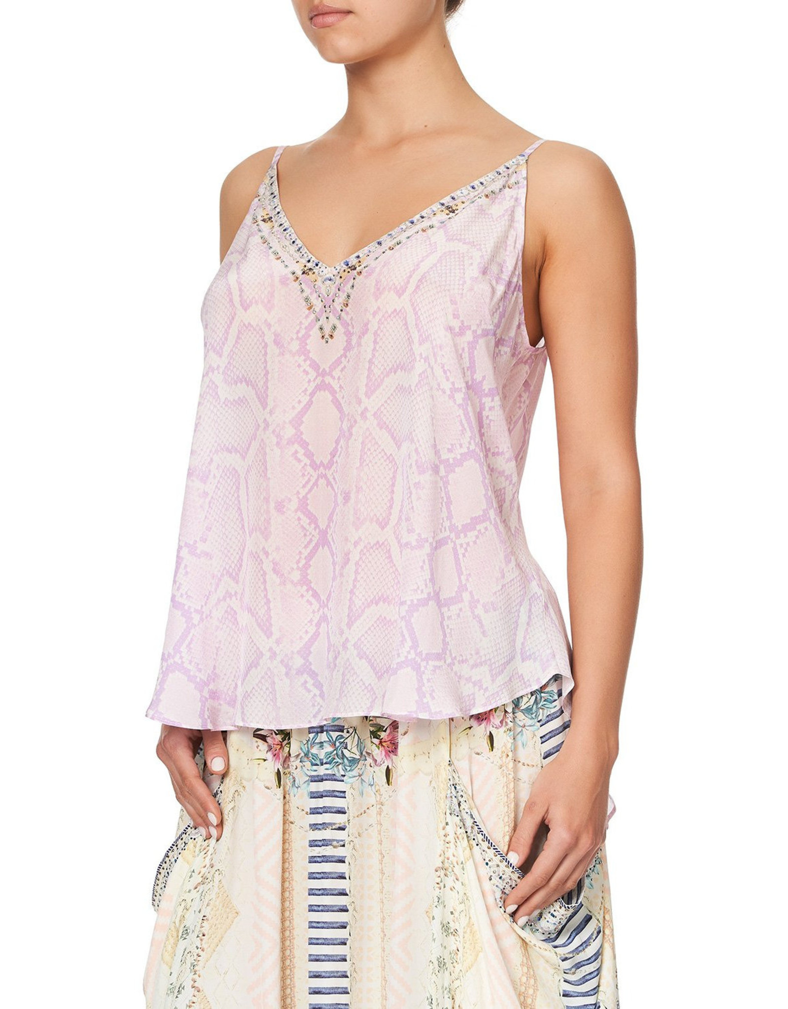 SALE - CAMILLA RAINBOW SANDS V NECK CAMI