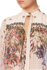 CAMILLA KINDRED SKIES BLOUSE WITH YOKE AND NECK TIE