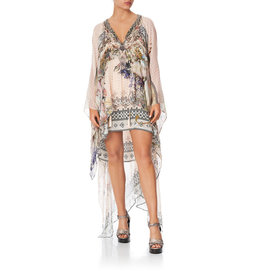CAMILLA KINDRED SKIES LONG SHEER OVERLAY DRESS